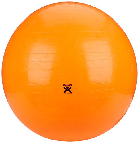Rolyan Energizing Exercising Balls, Orange 47 1/4'', Vinyl Therapy Ball for Physical and Occupational Therapy, Fitness Ball for At-Home Work Outs, Yoga, Balance, Pilates, and Core Training Activities by Rolyan (Image #1)
