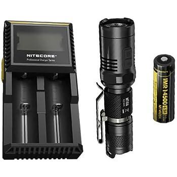 Bundle: Nitecore MT10A Flashlight w/Nitecore D2 Charger & IMR 14500 Battery
