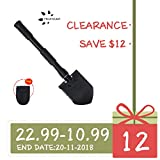 Fruiteam Military Portable Folding Shovel and Pickax Army Surplus Multitool for Camping, Hiking, Backpacking, Fishing, Trench Entrenching Tool, Car Emergency etc