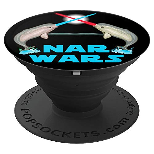 Cute Narwhal The Great Nar Wars Parody - PopSockets Grip and Stand for Phones and Tablets ()