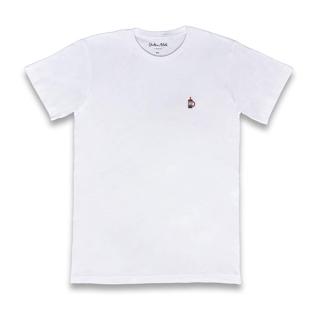 Dritan Alsela French Press Hombre Camiseta Blanco: Amazon.es: Ropa ...