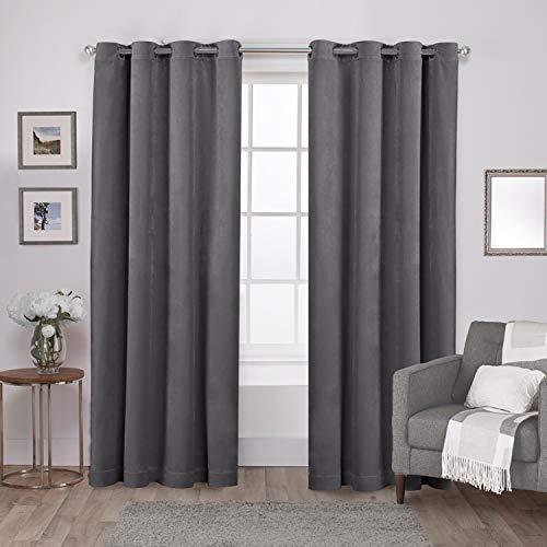 t Grommet Top Curtain Panel Pair, Soft Grey, 54x108, 2 Piece ()
