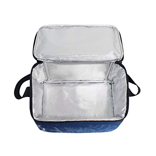 Strap Soccer Around Lunch Ball Blue Water for Football Lunchbox Picnic Bag Cooler Shoulder qwtOtHAnPS