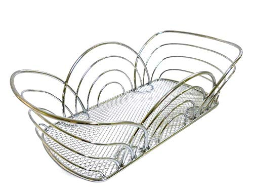 - Spectrum Diversified Flower Bread Basket, Chrome