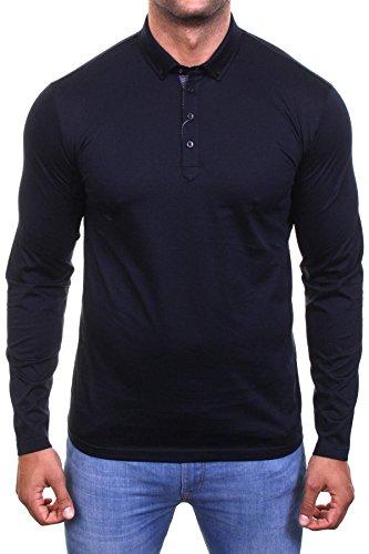 Guide London Herren Poloshirt schwarz schwarz