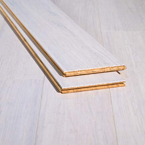 Ambient Bamboo - Bamboo Flooring Sample, Color: Rustic Ivory, Solid Strand Tongue and Groove
