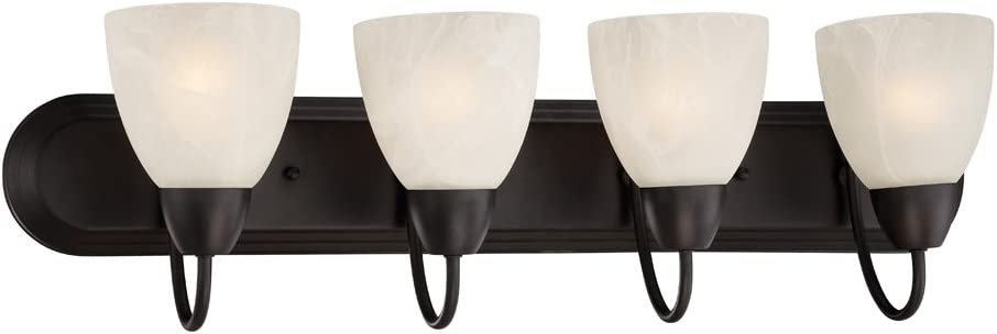 Designers Fountain 15005-4B-34 Torino 4 Light Bath Bar, Oil Rubbed Bronze