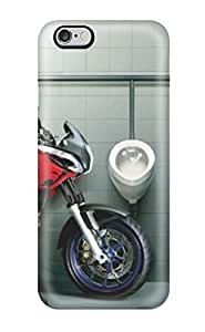 meilz aiaiSnap-on Funny Motorcyclist At Bathroom Case Cover Skin Compatible With Iphone 6 Plusmeilz aiai