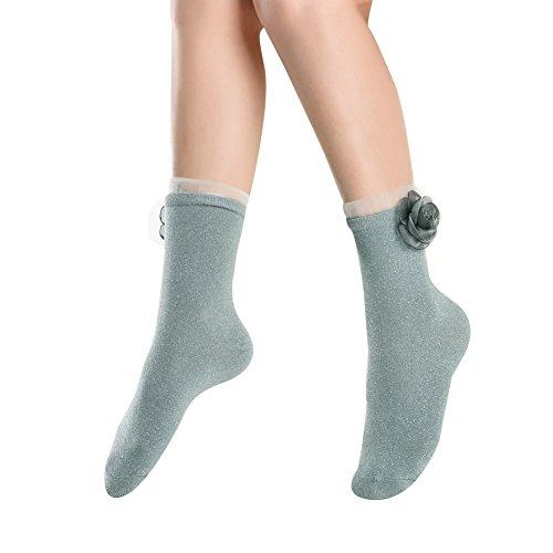 Flower Ankle Socks - 6