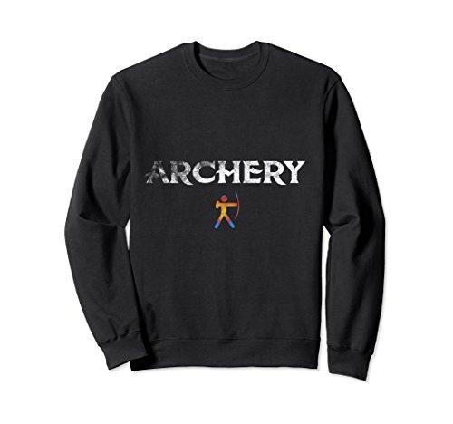 Archery Costume Ideas (Unisex Love Heart Archery Archer Arc Arrow Crewneck Sagittarius Large Black)