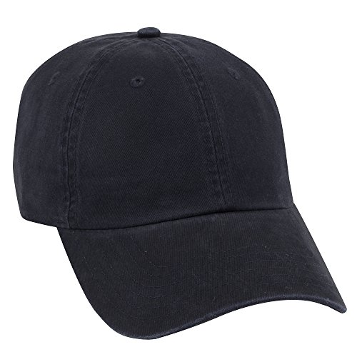 OTTO Garment Washed Superior Combed Cotton Twill 6 Panel Low Profile Dad Hat - Navy