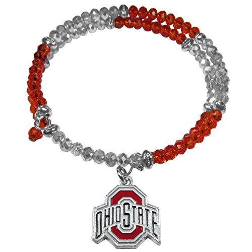 Siskiyou NCAA Ohio State Buckeyes Crystal Memory Wire Bracelet