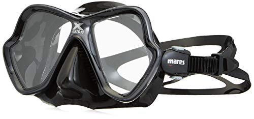- Mares X-Vision Ultra Liquid Skin Dive Mask, Black/Gold Mirrored Lens (Certified Refurbished)