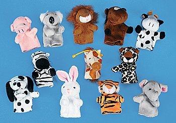 Fun Express Animal Finger Puppets (12 Piece) Jungle Finger Puppets