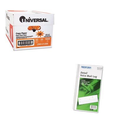 KITRED51113UNV21200 - Value Kit - Rediform Voice Mail Wirebound Log Books (RED51113) and Universal Copy Paper (UNV21200)