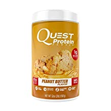 Quest Nutrition Protein Powder, Peanut Butter, 23g Protein, 1g Net Carbs, 84% P/Cals, 2lb Tub, High Protein, Low Carb, Gluten Free, Soy Free, Packaging May Vary