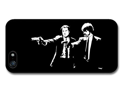 Pulp Fiction Movie John Travolta Samuel Jackson Black and White Illustration hülle für iPhone 5 5S