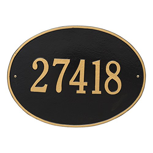 Whitehall 2926 Hawthorne Estate Oval Wall One Line Address Plaque. Choose your own personalization and color! - Oval Estate Wall Plaque