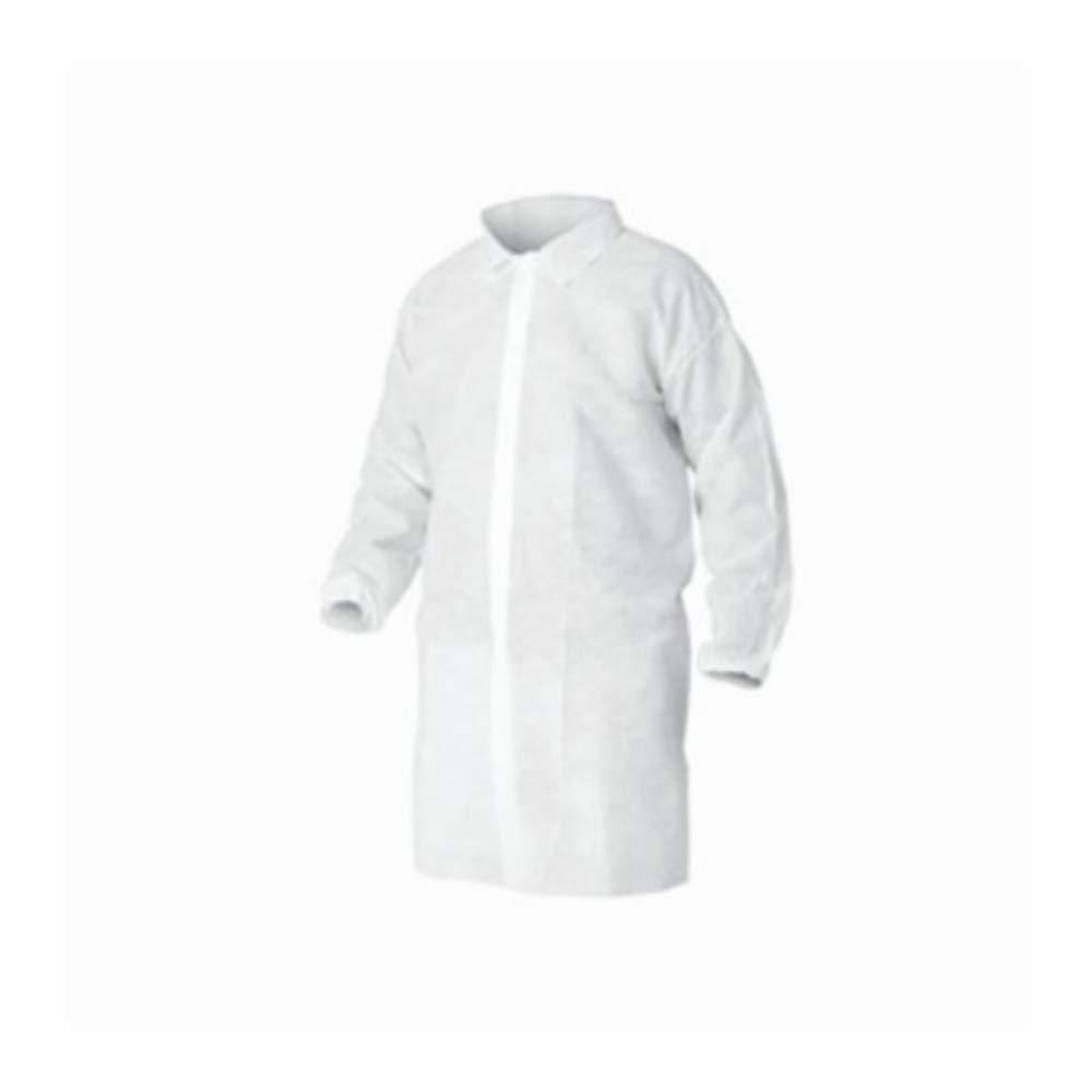 Balco Industries - White Spunbond Polypropylene Lab Coat, 50 Coat Casepack (XX-Large)