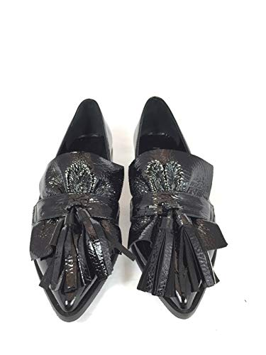 Mocassino Donna Italy Divine In Follie Nero Made xO5OqAwE7