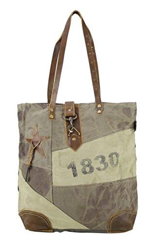 Sunsa Damen Handtasche Schultertasche große Tasche Canvastasche Weekender Handgelenktasche Henkeltasche Shopper in retro Style