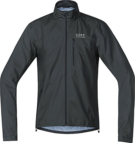 GORE BIKE WEAR Men's Cycling Rain Jacket, Super Light, GORE-TEX Active,  Jacket, Size: M, Black, JGTELM