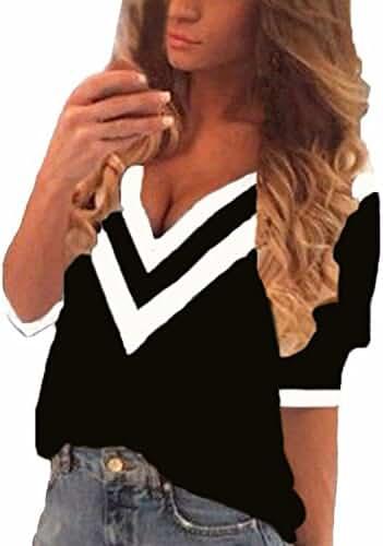 ZANZEA Sexy Women Casual Loose V Neck Long Sleeve Chiffon Tops Blouse Shirt
