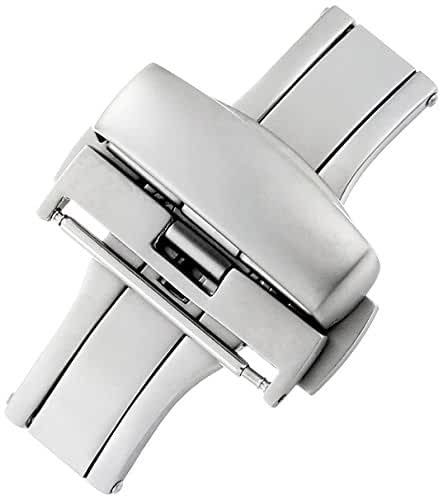 Hadley-Roma 22-mm Stainless Steel Push Button Deployant Clasp