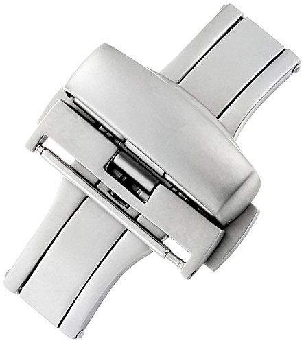 - Hadley-Roma 22-mm Stainless Steel Push Button Deployant Clasp