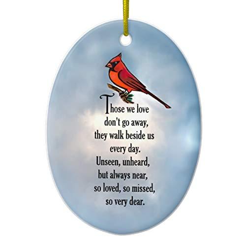 - Cardinal So Loved Poem Ceramic Ornament
