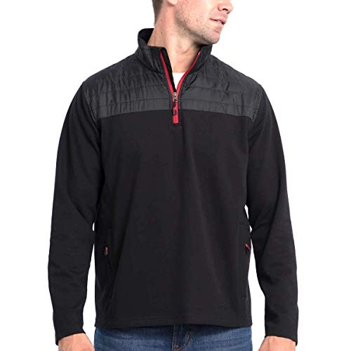Eddie Bauer Men's Mixed Media ¼ Zip Pullover