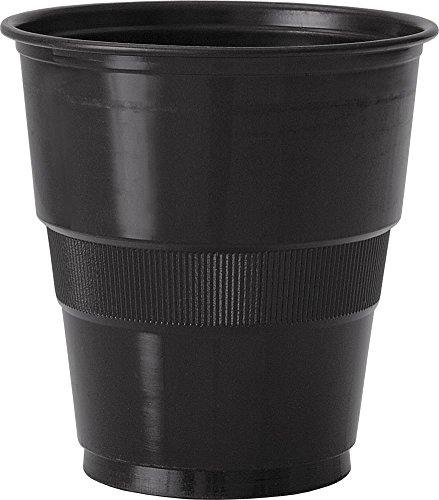 9oz Black Plastic Cups, 12ct