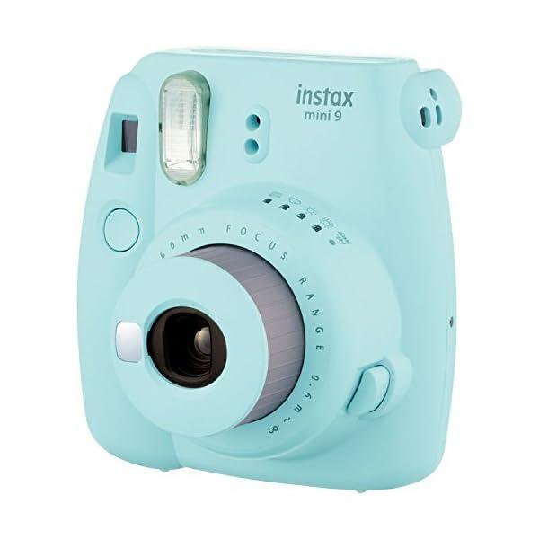 RetinaPix Fujifilm Instax Mini 9 (Ice Blue) Instant Camera with Mini Film Twin Pack