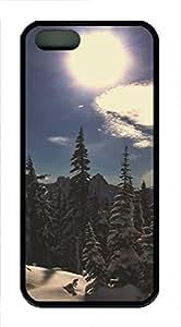 iPhone 5 5S Case landscapes nature snow sun 34 TPU Custom iPhone 5 5S Case Cover Black