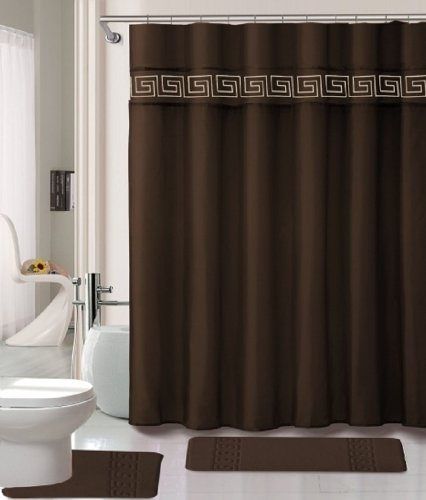 15 Piece Memory Foam Bath Rug Set Bathroom Rugs with Fabric