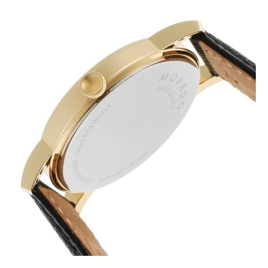 0ba8db5b9fd08 Shop. Home Watches Fashion watches Movado Men s 2100005 Museum Gold Classic  Leather Watch