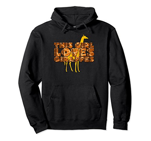 This Girl Loves Giraffes Film Shaped Letters Animal Hoodie