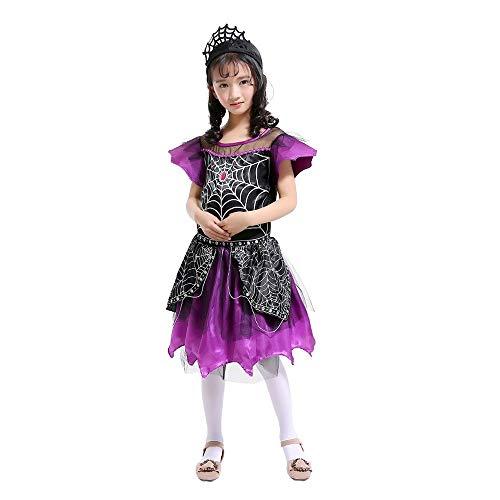 Foncircle Toddler Kids Girl Halloween Spider Cosplay Costume Skirt + Headband -