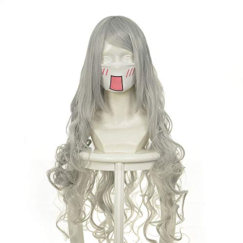 luo jie ai er ji beier silver volume cos wig watermark coiled silver Halloween