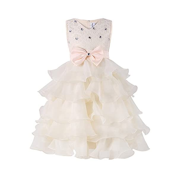 1f89ca87c9e Mignongirl Flower Girl Dress -Princess Laces Ruffles Kids  Dress for Christmas  Party Wedding(0-8 Years)