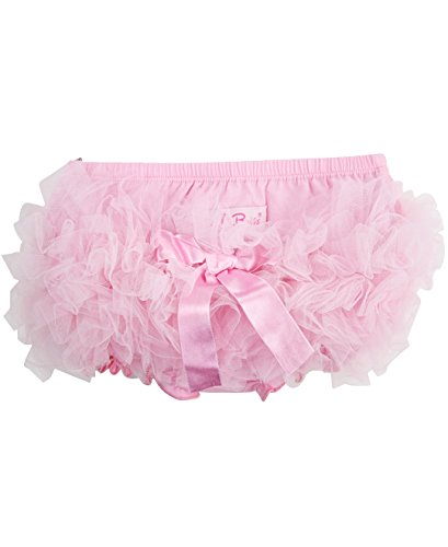 RuffleButts Infant / Toddler Girls Pink Frilly Ruffled Skirted Bloomer - Pink - 3-6m - Cotton Ruffled Bloomers