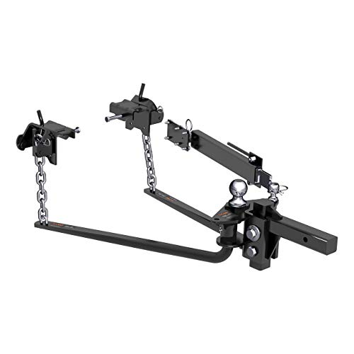 CURT 17063 MV Round Bar Weight Distribution Hitch with Sway Control Black Up to Up to 14,000 lbs, 2-Inch Shank, 2-5/16-Inch Ball