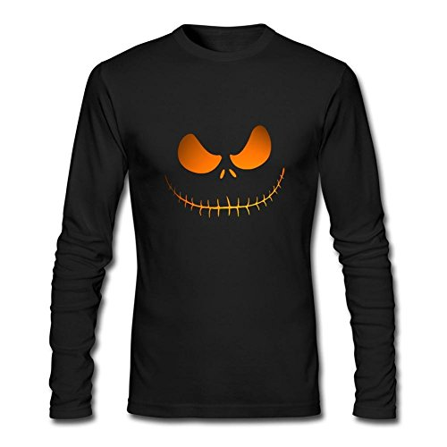 DESBH Men's The Nightmare Before Christmas Long Sleeve T Shirt Black (John Carpenter's Halloween Opening)