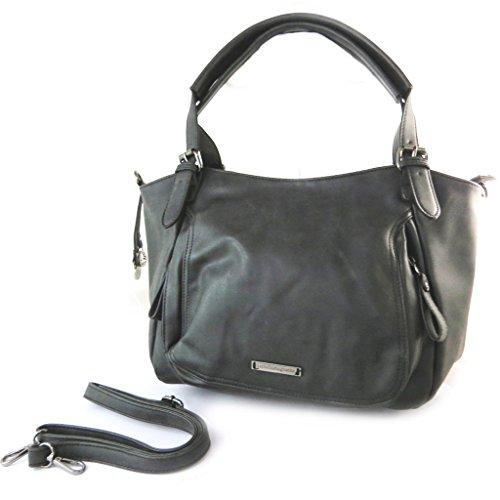 Bag designer 'Lulu Castagnette'nero d'epoca - 43x29x11.5 cm.