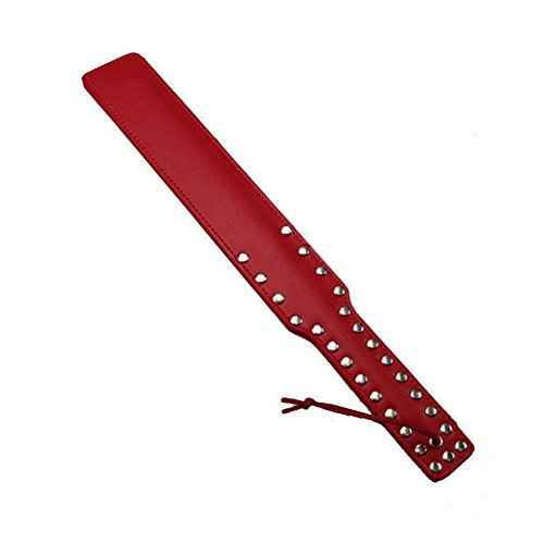 [Adult SM Erotica Products, FTXJ Fetish Hand Spanking PU Leather Paddle Flogger Whip (Red)] (Mens Bedroom Costumes)