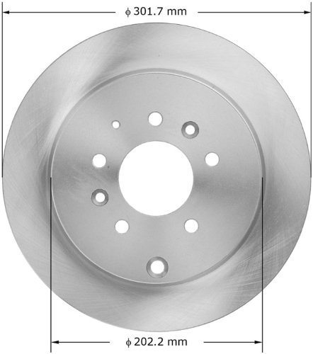 Remmen B130.00110.01-HDNK Brake Rotor Front Axle