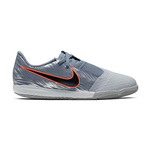 Nike Youth Phantom Venom Academy Indoor Soccer Shoe (4 Big Kid, Wolf Grey) (Indoor Soccer Shoes For Youth)