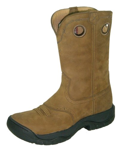 Image of the Twisted X Men's All Around Boot Distressed Saddle