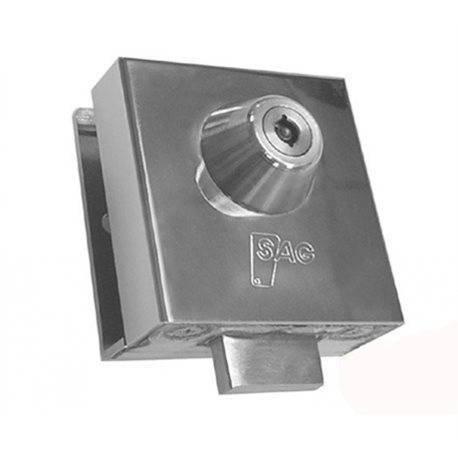 ECOSPAIN Cerradura de Seguridad Sag Mod.CR, para Puerta de Cristal abatible con Llave