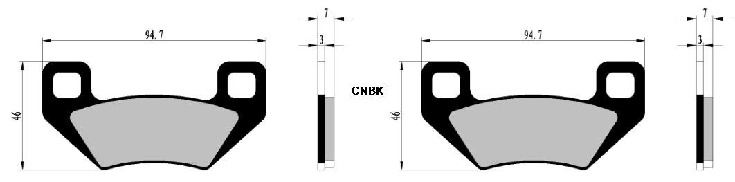 CNBK Semi Metallic Brake Pad Set fit ARCTIC CAT ATV Bike H2 1000 cc 1000cc Wildcat 12 13 14 15 2012 2013 2014 2015 8 Pads